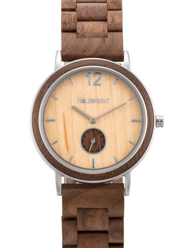 Holzspecht Wooden Watch Karwendel Walnut Maple