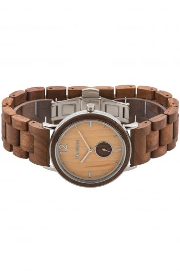 Holzspecht Wristwatch Karwendel out of Wood and Steel