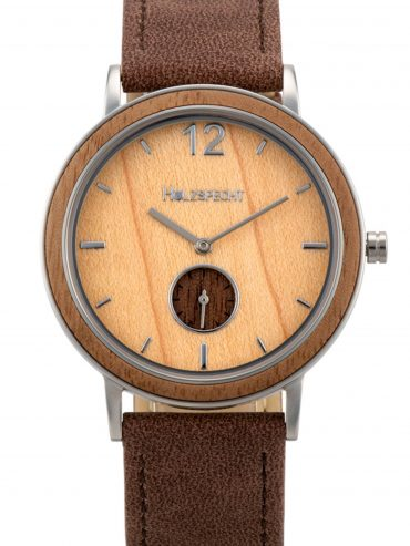 Holzspecht Wristwatch Karwendel - Wooden and vegan Leather