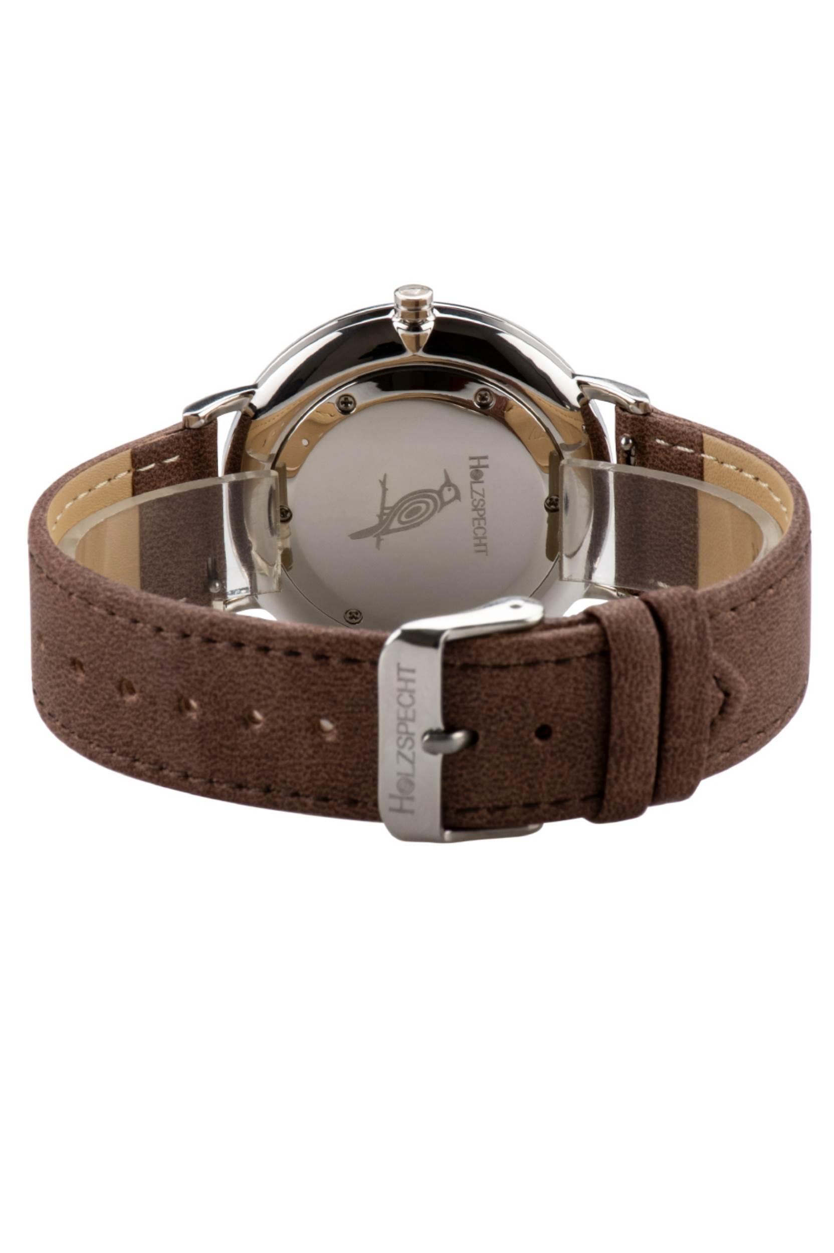 Armbanduhr Karwendel mit veganem Leder