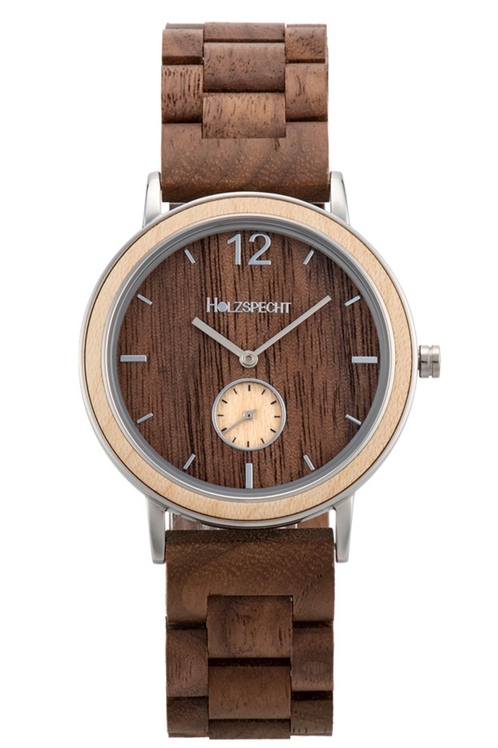 Holzspecht Wooden Watch Karwendel Maple Walnut