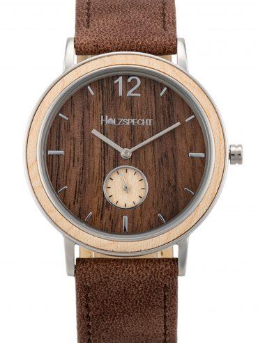 Holzspecht Armbanduhr Karwendel - Holz und veganes Leder