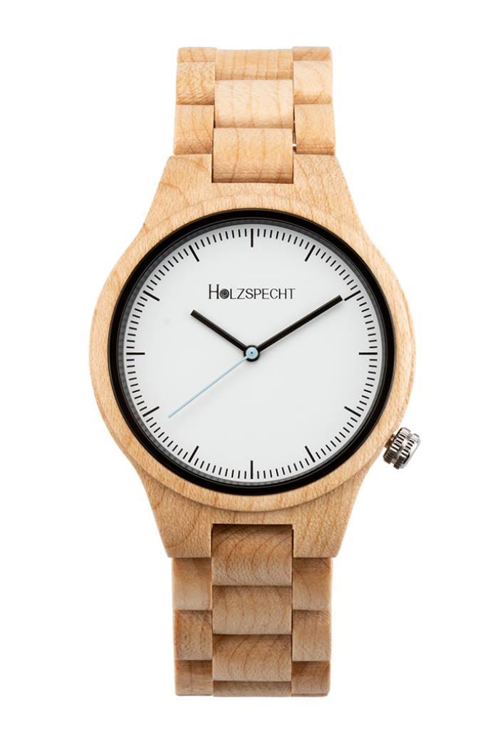 Holzspecht Armbanduhr aus Holz Dachstein Ahorn