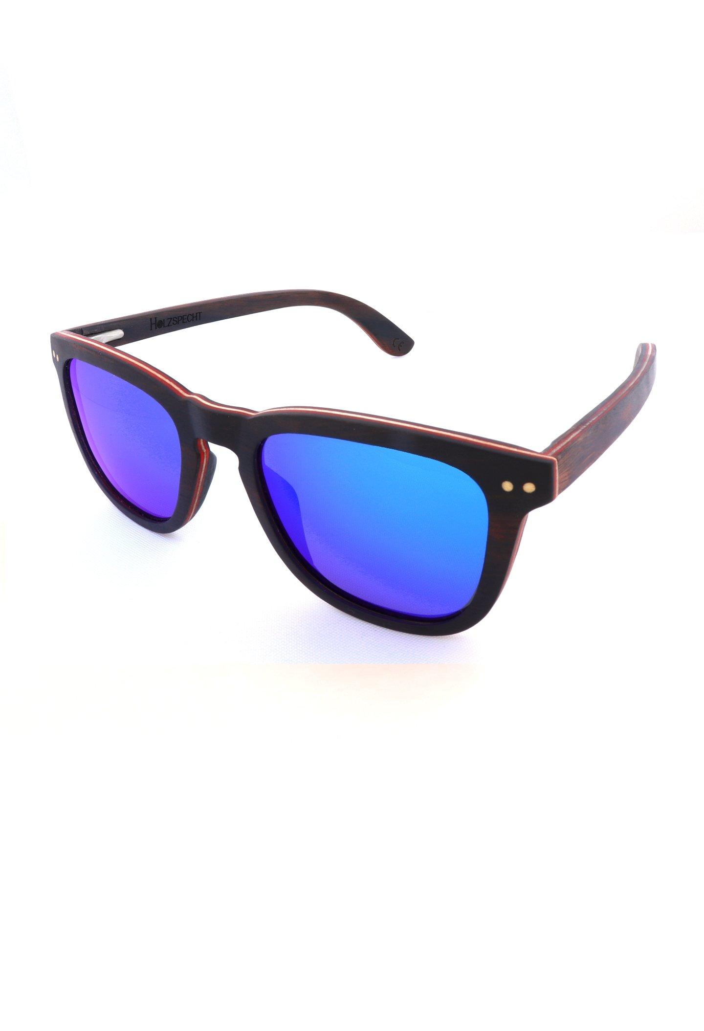 Holzsonnenbrille Bergsicht Ebenholz
