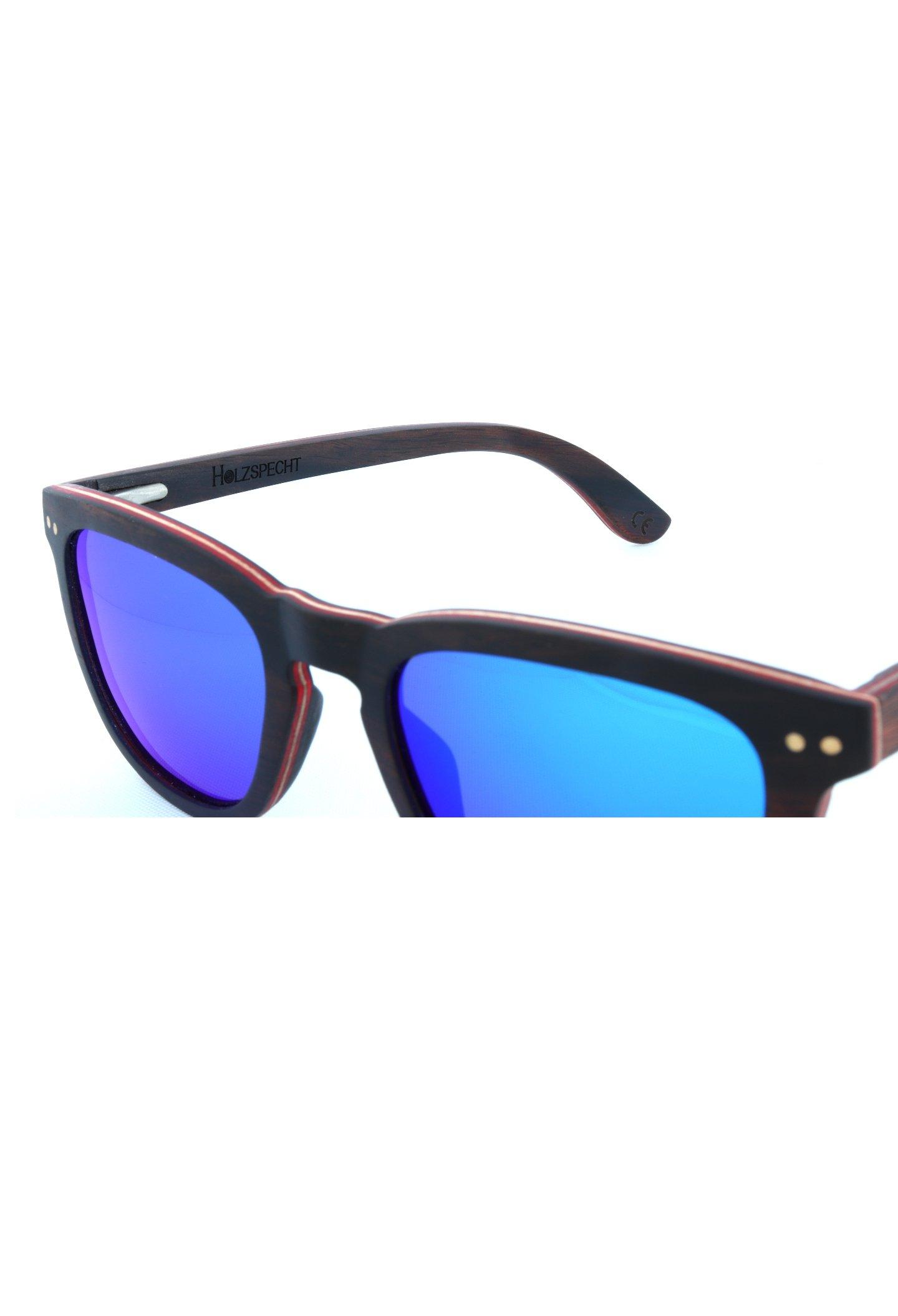 Sonnenbrille aus Holz Bergsicht Ebenholz