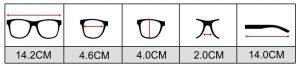Größe Freiblick Sonnenbrille