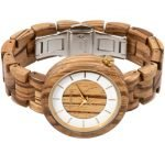 Holzspecht Armbanduhr aus Holz Sonnentaler Zebrano