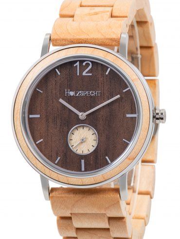 Holzspecht Wood Watch Karwendel Walnut - Maple band