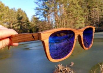 Sonnenbrille aus Holz Weitblick
