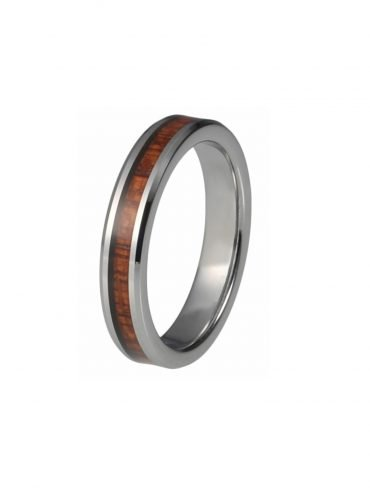 Tungsten Ring with Wood