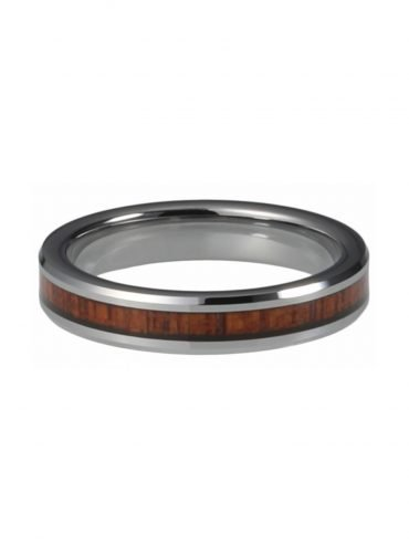 Wooden Ring made of Tungsten