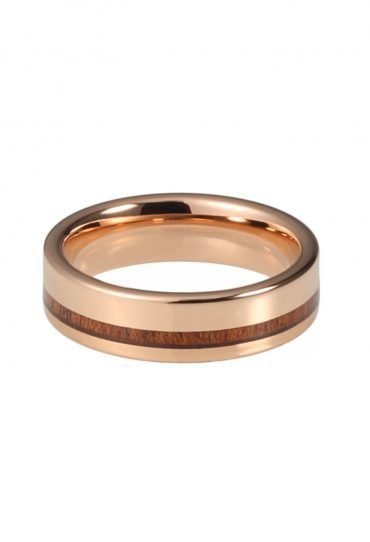 Wooden Ring Veritate made of Tungsten