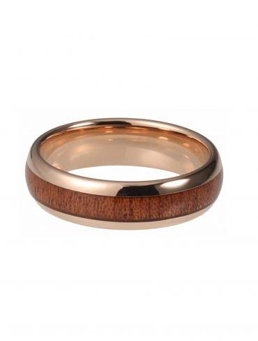 Holzspecht Tungsten Ring mit Holz